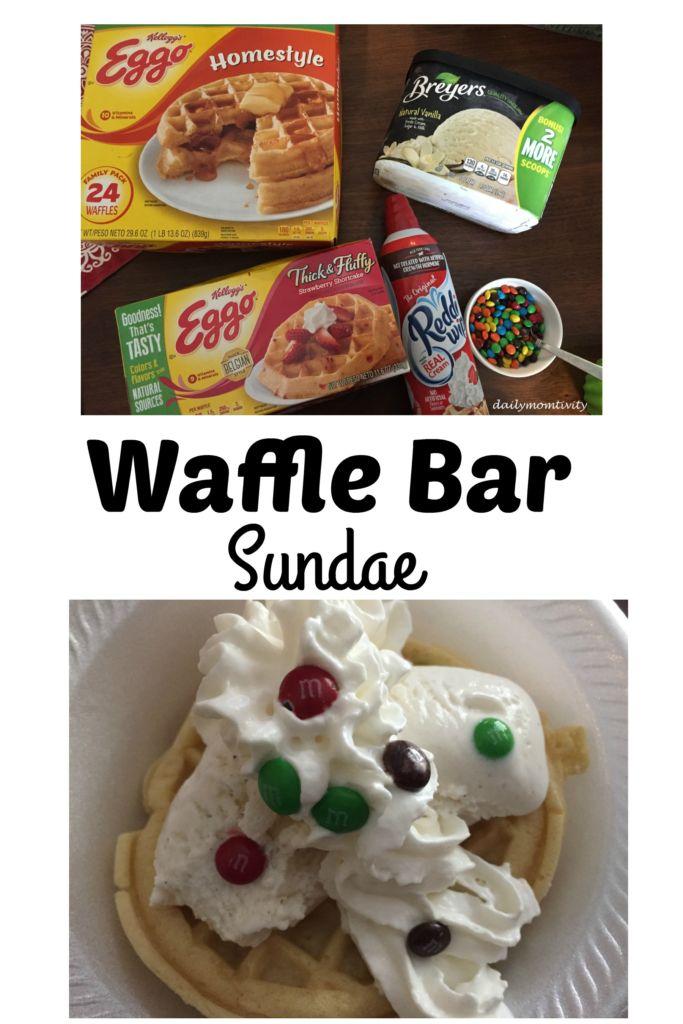 #eggowafflebar #ad Celebrate the year with this DIY waffle bar sundae