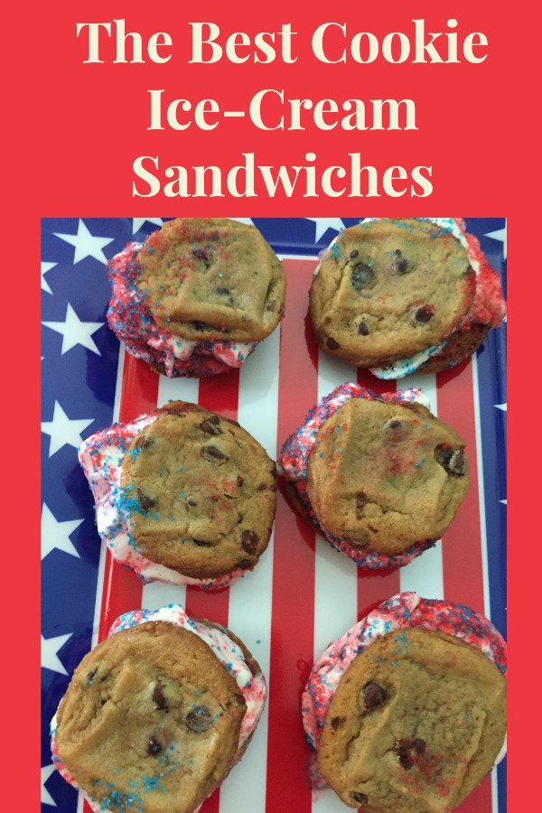 The Best Cookie Ice Cream sandwiches, perfect for a summer time treat!