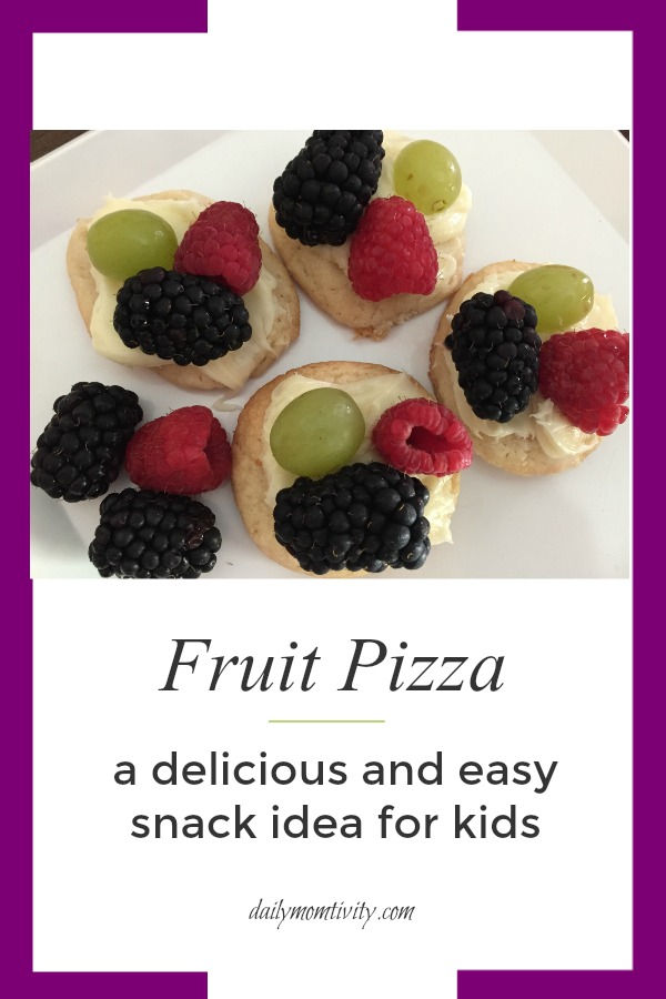 Easy and Delicious fruit pizza! Such a fun snack idea for kids
