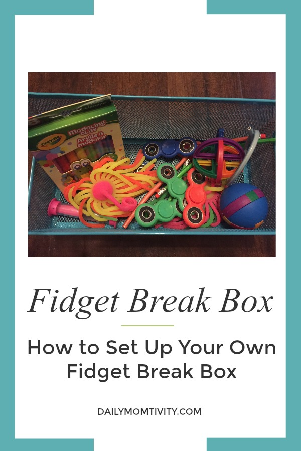 Fidget breaks can be very beneficial to all types of learners. Here's how to set up a simple fidget break box to use with students.