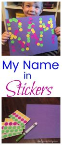 A fun fine motor activity to teach kids the letters in their name!