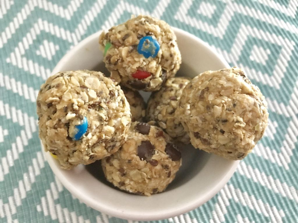 no bake monster peanut butter balls
