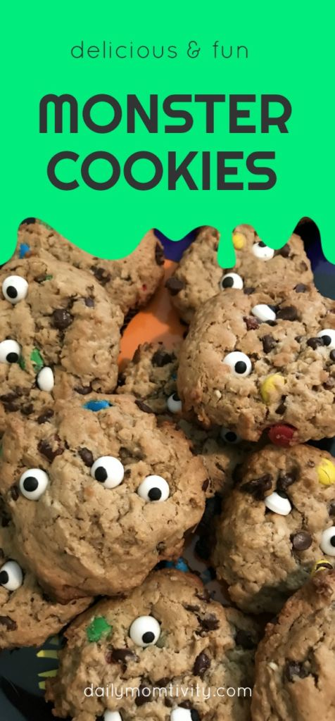Such a fun treat to make with kids, MONSTER cookies!!!