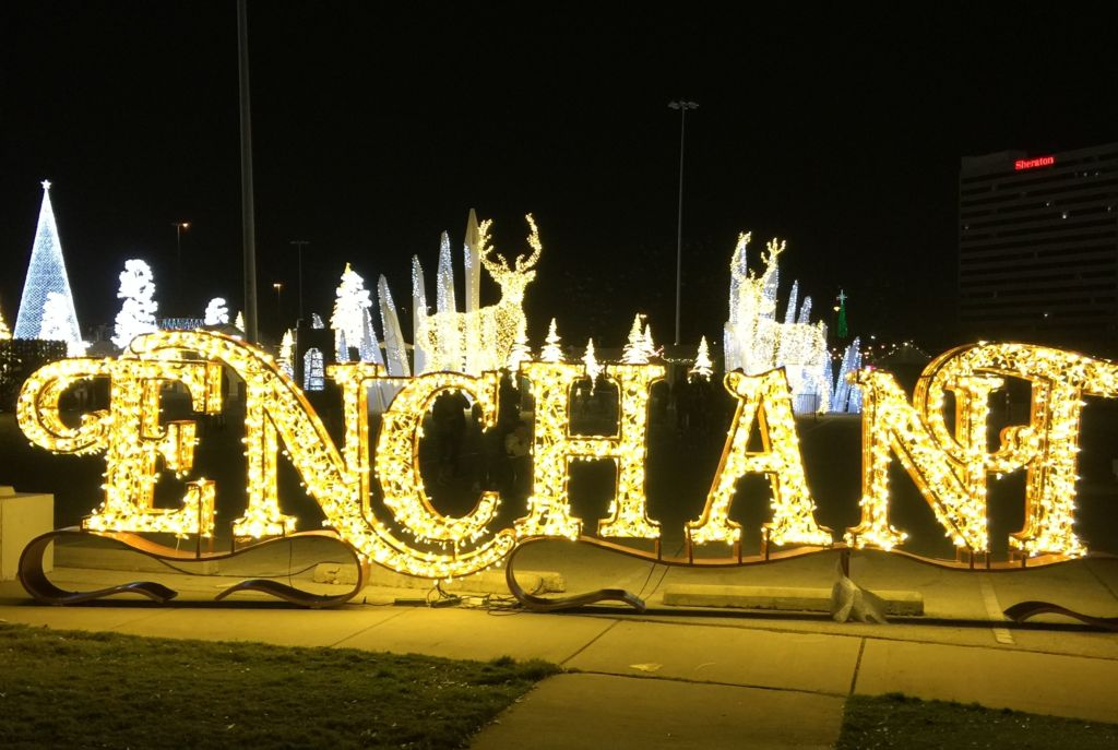 Enchant Christmas Light Maze and Market in Arlington