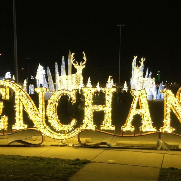 Enchant Christmas Light Maze and Market in Arlington