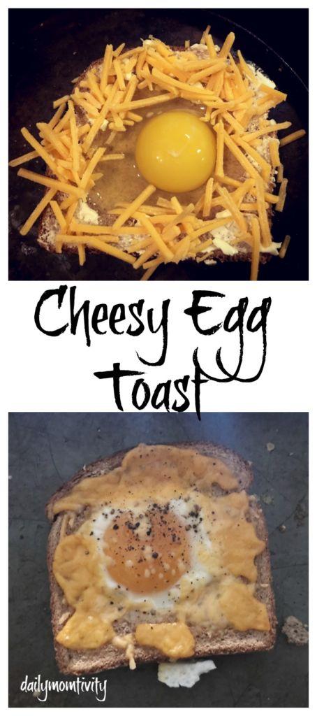 The perfect breakfast idea- cheesy egg toast