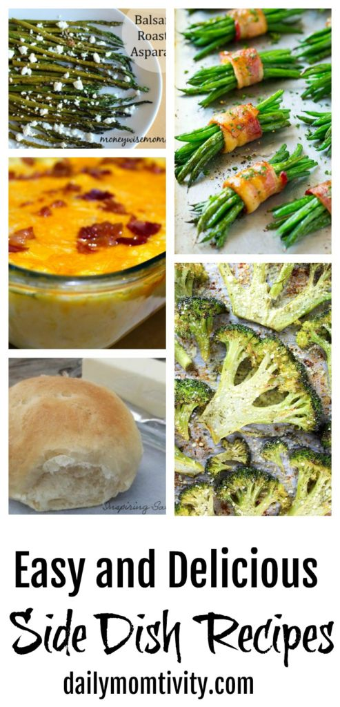 Easy and Delicious Side Dish Recipes. Perfect for any meal!