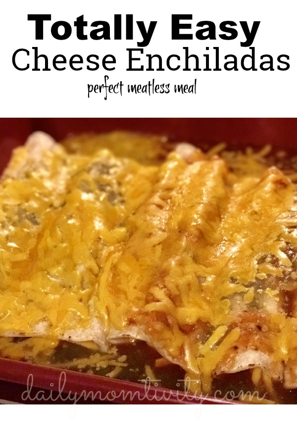 the easiest cheese enchilada recipe! Makes a perfect meatless Monday meal