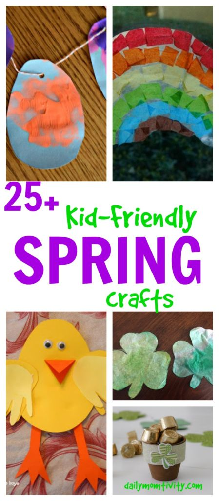 25+ kid-friendly spring craft ideas!