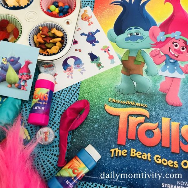Trolls Muffin Tin Snack