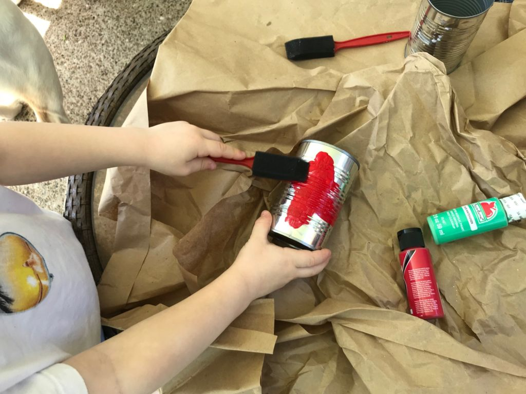 Recycled Art Craft for Earth Day project using materials from your house