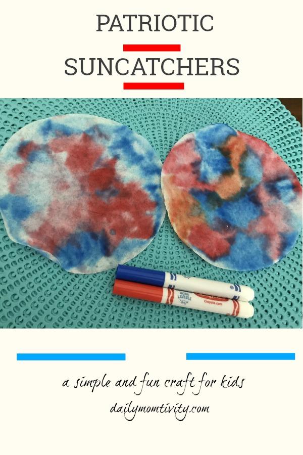 Patriotic Suncatcher craft for kids