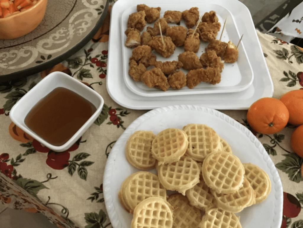 mini chicken waffle s