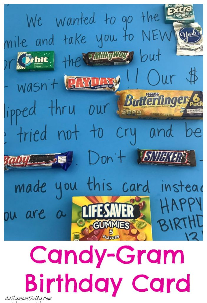 Make a fun card with this cute candy gram birthday card!!
