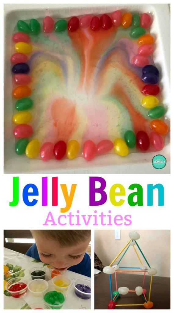Want to have some fun this spring with your kids? Grab a bag, your kids, and try these jelly bean activities!
