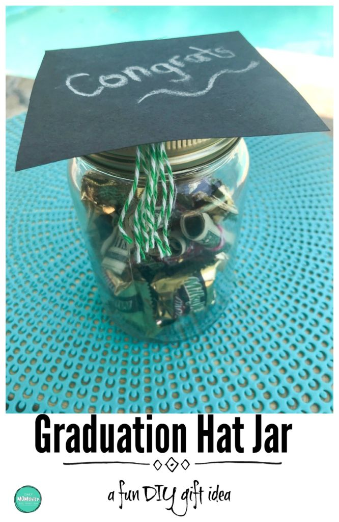 A fun and simple DIY graduation gift idea! graduation hat jar, graduation gift idea