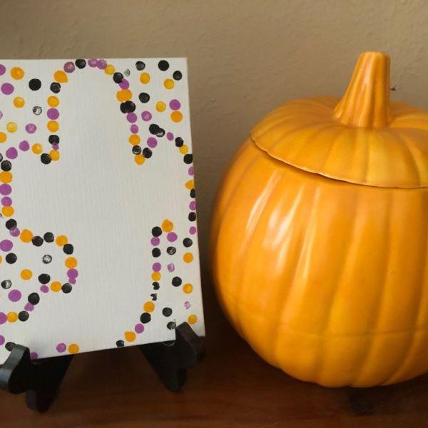 Ghost Eraser Stamp Art Halloween Craft for Kids