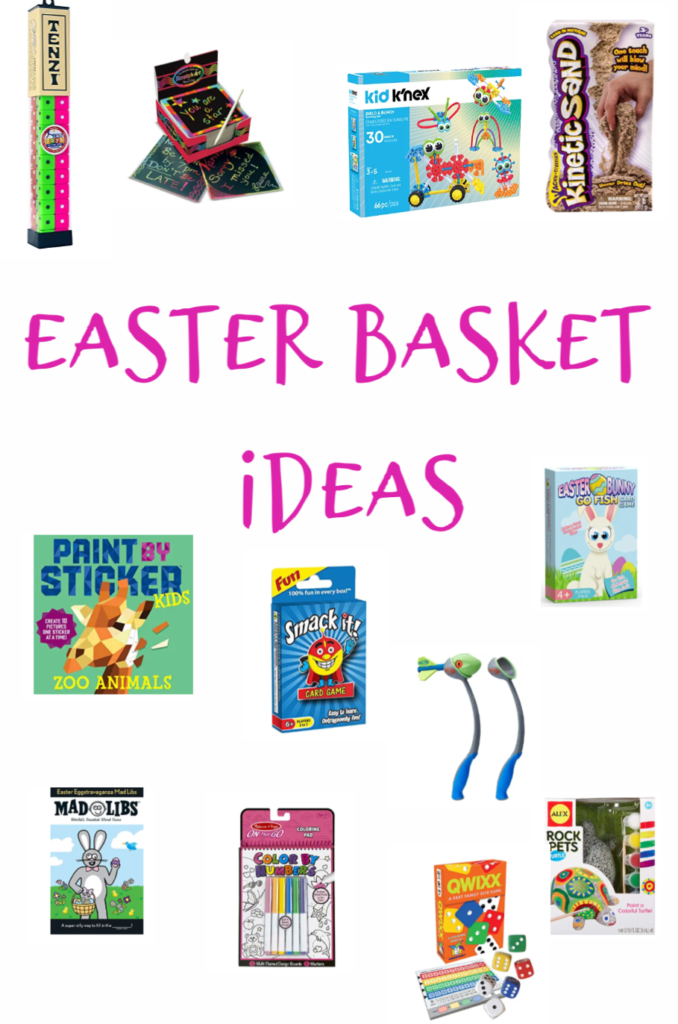 Easter Basket Ideas for the Kids! All of these ideas include card games, fun outdoor games, crafts and more. All from Amazon!