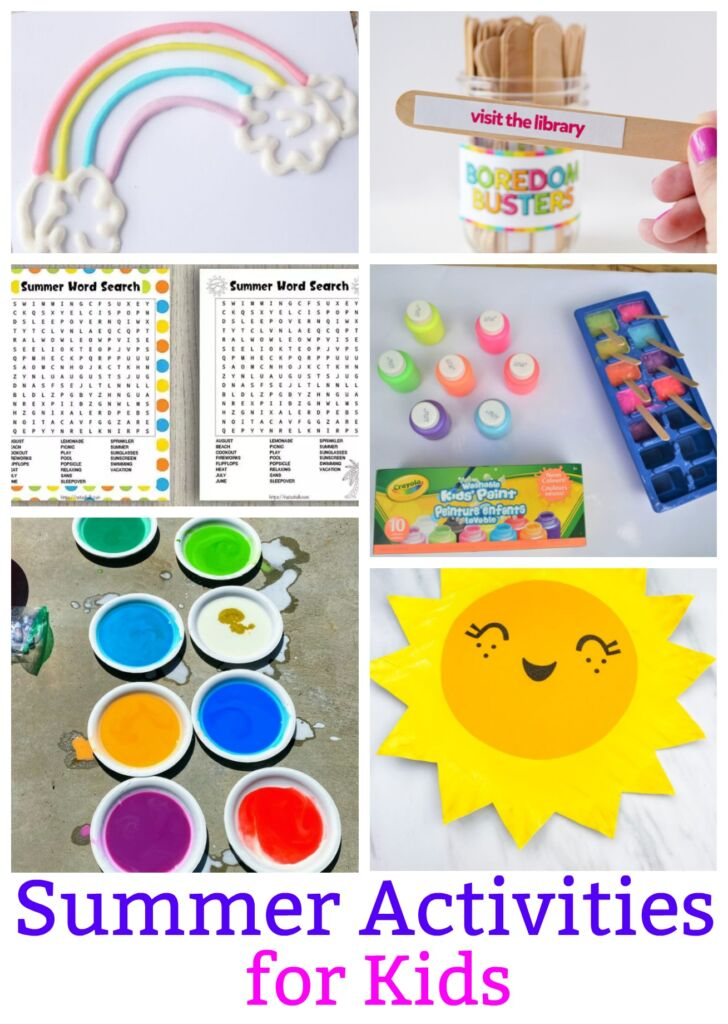 Bored Kids? You are in luck- these summer activities for kids will give you some new ideas to try to keep the kids having fun at home.