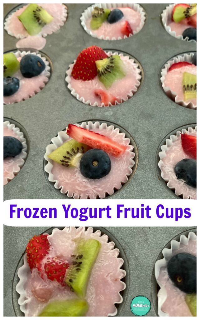 Frozen Yogurt Fruit Cups, a fun and simple frozen treat the whole family will love!