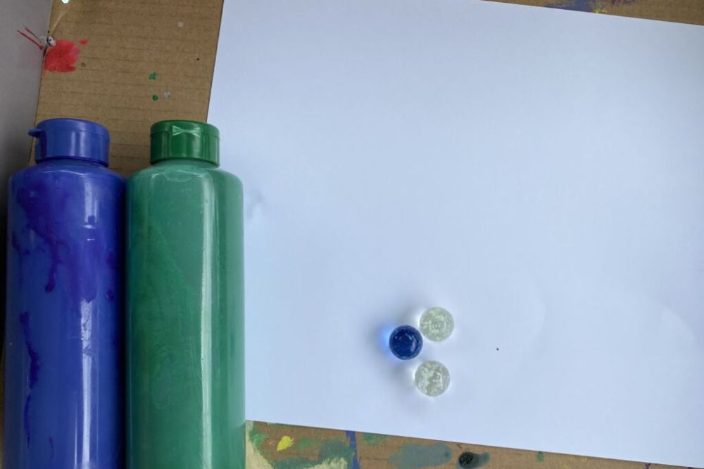 marble painting for kids