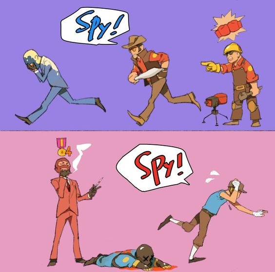 Spy vs Engineer et Sniper.jpg