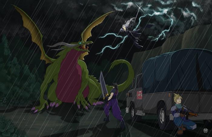 Zack Sephiroth vs Dragon.jpg