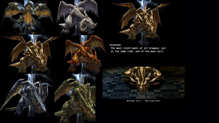 Types de dragons spectres Vagrant Story