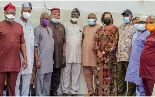 2023 Presidency: South West Speakers storm Ibadan, rally support for Tinubu [PHOTOS]