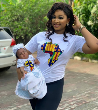 Adorable new photo of Etinosa and her daughter