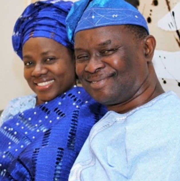 Clergyman Mike Bamiloye celebrates his wife as she turns 57