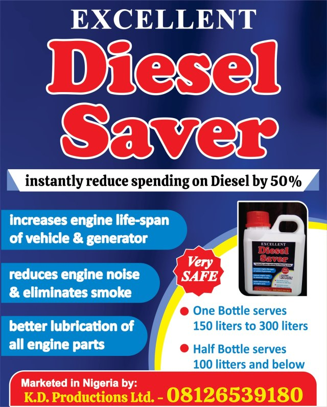 Diesel Saver that will reduce your spending on diesel by 50% now in Nigeria