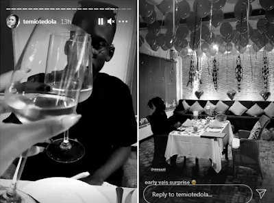 Mr Eazi treats Temi Otedola to an early Valentine surprise