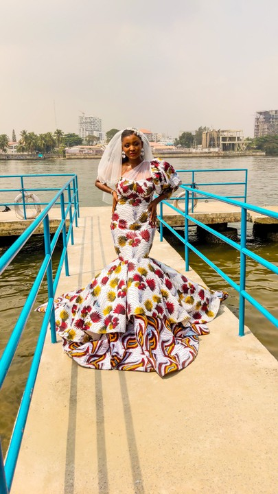 Nigerian fashion designer breaks the norm to wed in Ankara