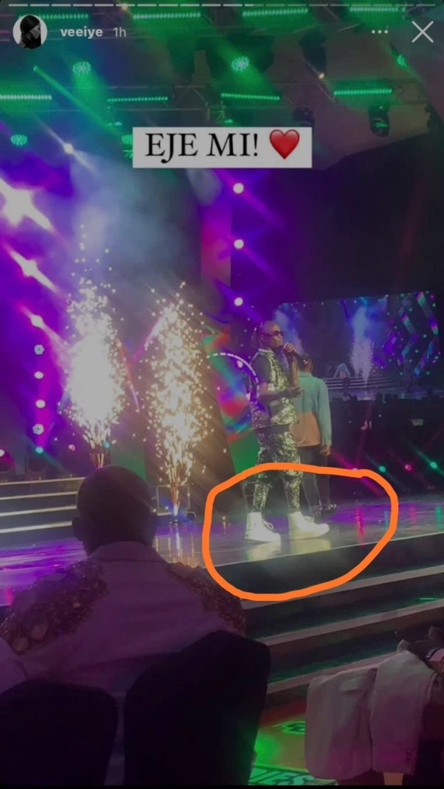 Nigerians mock the shoes Laycon wore for Headies Awards