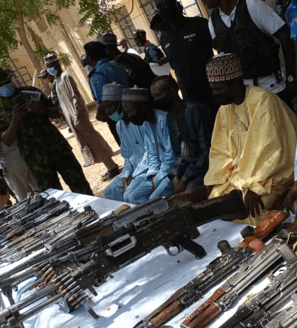 Four notorious bandit leaders repent in Kastina, surrender their arms and ammunition [photo]