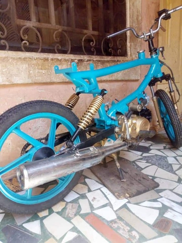Photos: Man with no formal education builds motorcycles from scratch in Katsina