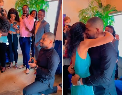 Alex Ekubo's long time girlfriend shares the sweet moment her man proposed to her