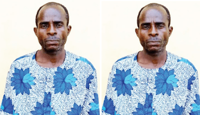 Man arrested in Ogun for defiling all his three daughters