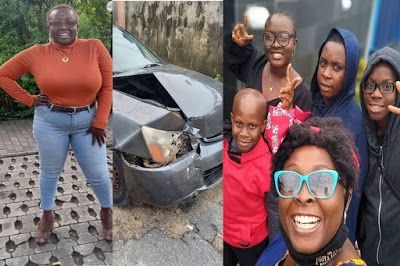 OAP Lolo gives THANKS to God as she and her children survive car accident