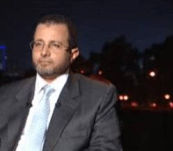 Screengrab from an interview with Hesham Qandil in 9 August 2011 aired on Al-Jazeera Mubasher