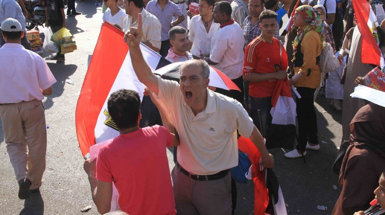 Anti-Morsy protest march at the Manasa staged in June (File photo) Mohamed Omar
