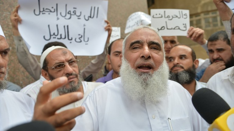 """A criminal court ruled on Monday to release Islamic preacher """"Abu Islam"""", on bail of 20, 000 Egyptian pounds in a blasphemy case. (File Photo) AFP PHOTO / KHALED DESOUKI"""