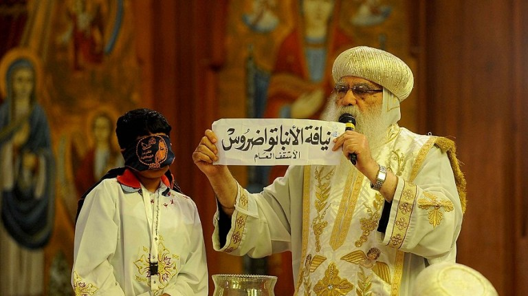 Bishop Tawadros of Beheira is the new pope of the Coptic Orthodox Church. (PHOTO BY HASSAN IBRAHIM)
