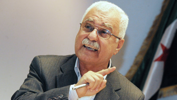 Syrian National Council chairman George Sabra met with the Arab League Secretary General Nabil El-Araby on Sunday to discuss the ongoing crisis in Syria Photo: George Sabra (AFP\Photo)