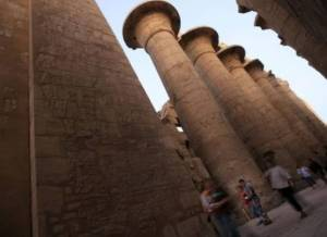 The governor of Luxor charges EGP 5,000 per month for each stall at the Karnak temple, but the decline in tourism caused by the instability of the past two years has left many store owners unable to cover their costs. (AFP Photo)