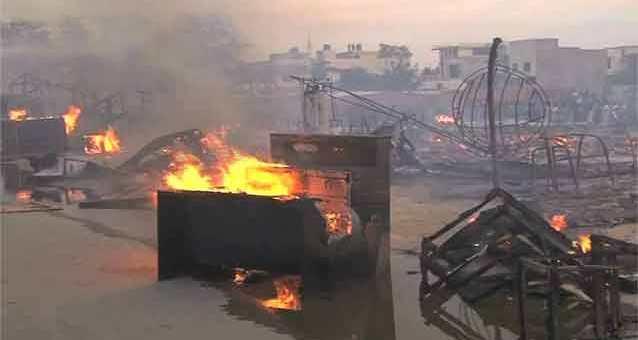 سلنڈر دھماکہ، لاہور کی فرنیچر مارکیٹ خاکستر