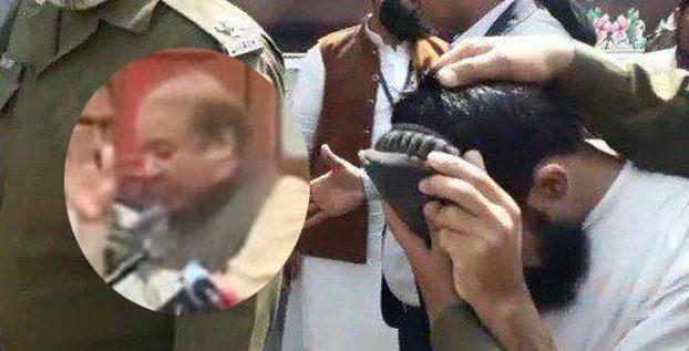 نواز شریف کو جوتا مارنے کے بعد شخص نے کیا نعرہ لگایا؟