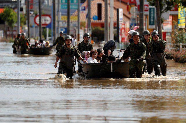 جاپان بارشوں اور سیلاب سے تباہی، 250 افراد ہلاک