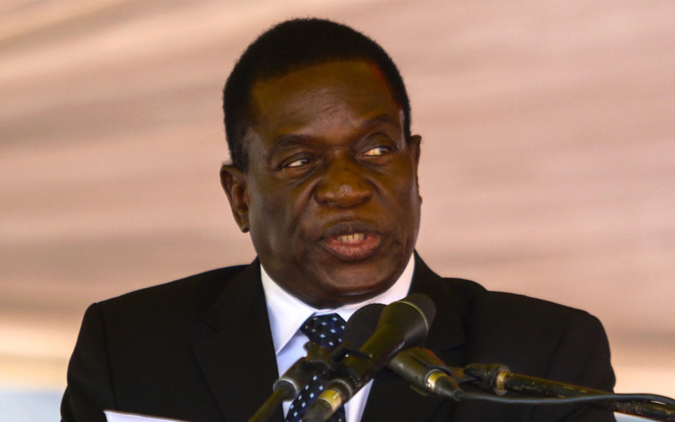 The President of Zimbabwe Emmerson Mnangagwa
